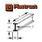 Plastruct B-8P  B-8P - 6.4mm BEAM (4 pieces)